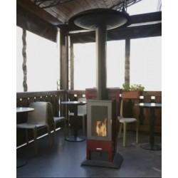 Estufa Pellet GreenHeiss Hot Spot 13 Kw Exterior Terraza