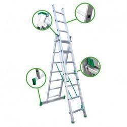 Escalera Transformable Escalibur 9+9+9 peldaños Aluminio