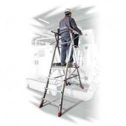 Escalera con Plataforma Faraone PLS 5 peldaños aluminio 6